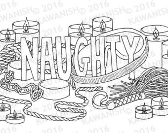 naughty kinky bdsm adult coloring page wall art funny coloring page - Dirty Coloring Books