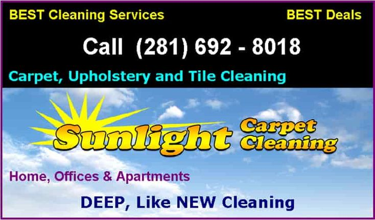 Sunlight Carpet Cleaning professional carpet cleaners serve country in Friendswood, Texas Area's Best Deals .call us at  (281) 692 - 8018 today to make an appointment for our dry carpet cleaning service and carpet steam cleaning service.