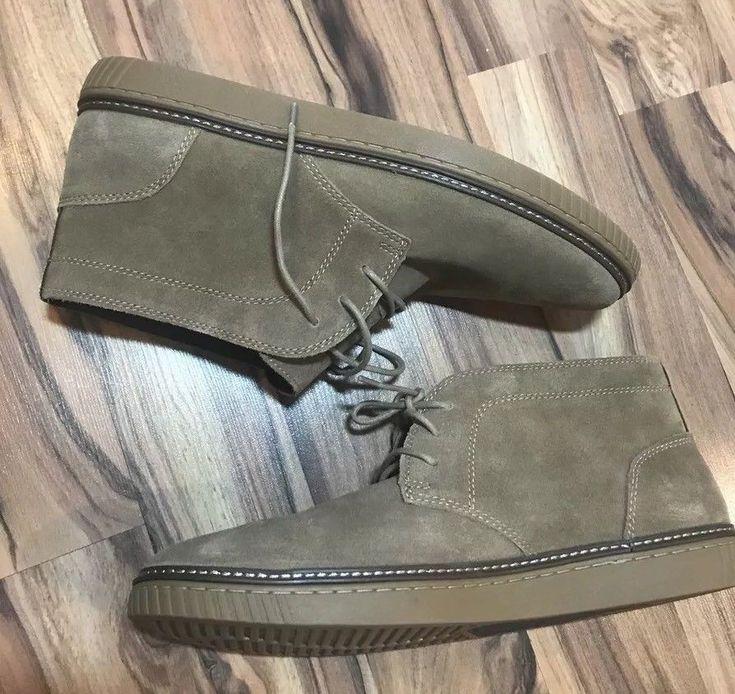 Johnston & Murphy Men's Sz 13 Brown Sheepskin Leather Chukka Boots New Shoes  | eBay