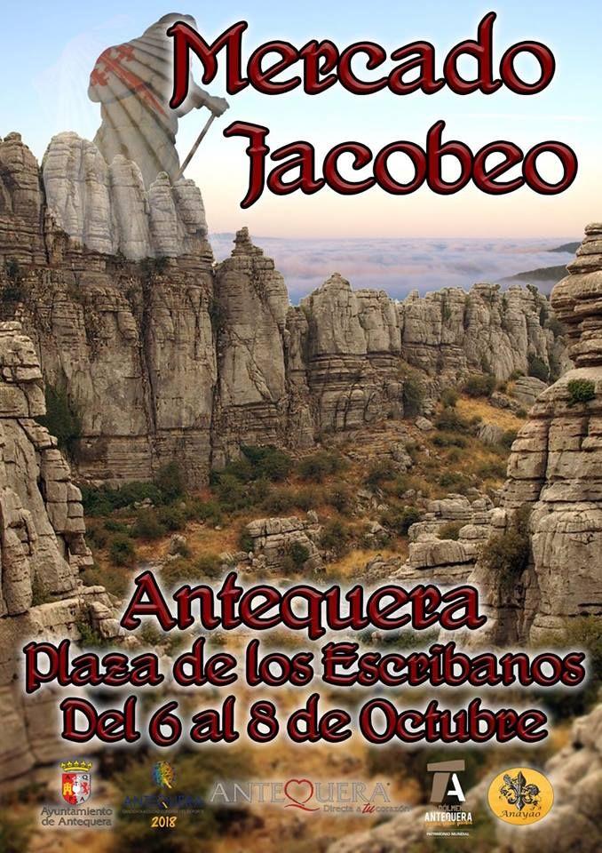 Del 6 al 8 de octubre te invitamos a venir a Antequera y disfrutar del Mercado Jacobeo en un entorno único, como es el Recinto Monumental Alcazaba-Real Colegiata.