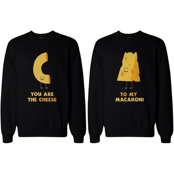 Matching BFF Sweatshirts for Best Friends You're the Cheese to My... ($49) ❤ liked on Polyvore featuring tops, hoodies, sweatshirts, shirts, sweaters, best friend, bff, black shirt, sweatshirts hoodies and black sweat shirt