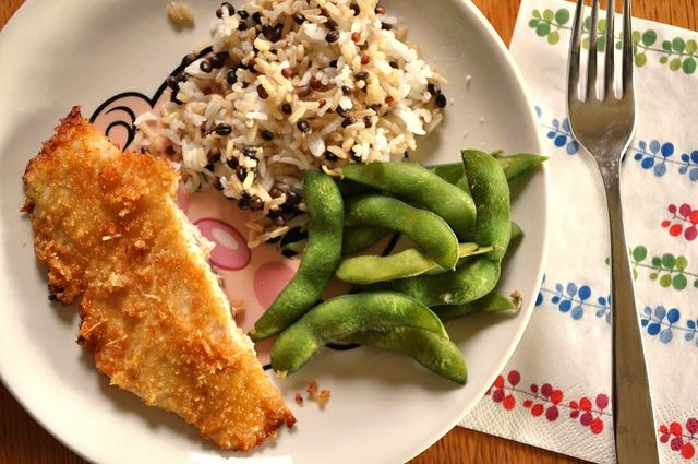 Crispy parmesan crusted fish recipe fish for Crispy baked whiting fish recipes