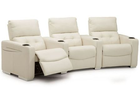 Get the ultimate movie and game experience in the Three Piece Sectional. Made for comfort, the sectional gives each person their own seat allowing you to recline back and kick your feet up. The sectional features cupholders in each arm with LED lighting making it easy to see in a dark room. The padded headrest and chaise-like ottoman makes the each chair the best seat in the house. See in-store for Dimensions, configurations, and fabric and leather options.