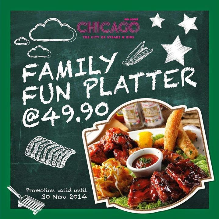 FAMILY FUN PLATTER @ CHICAGO RIB HOUSE   Chicago Rib House is offering their Family Fun Platter at RM49.90 only. Platter includes a pork ribs, battered fried squid rings, chicken drummets, deep fried fish fingers & a soft drink. Visit their restaurant for more details Available at: Chicago Rib House – 1 Utama Shopping...  Read more @ https://www.malaysianfoodie.com/2014/11/family-fun-platter-chicago-rib-house.html?utm_source=PN&utm_medium=Malaysian+Foodie+Pin&ut