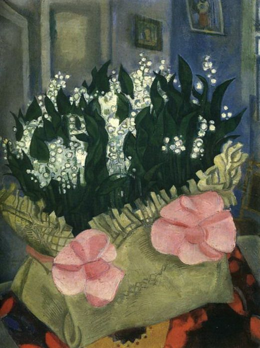 Marc Chagall. Lilies-of-the-Valley. 1916 (Moscow, The State Tretyakov Gallery)
