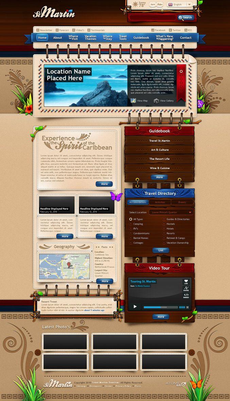 saint martin tourism by loudamedia d37hv04 Web Interface Showcase of Inspiration