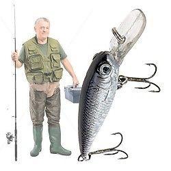 Cebo para Pescar con 2 Anzuelos 8718226551078
