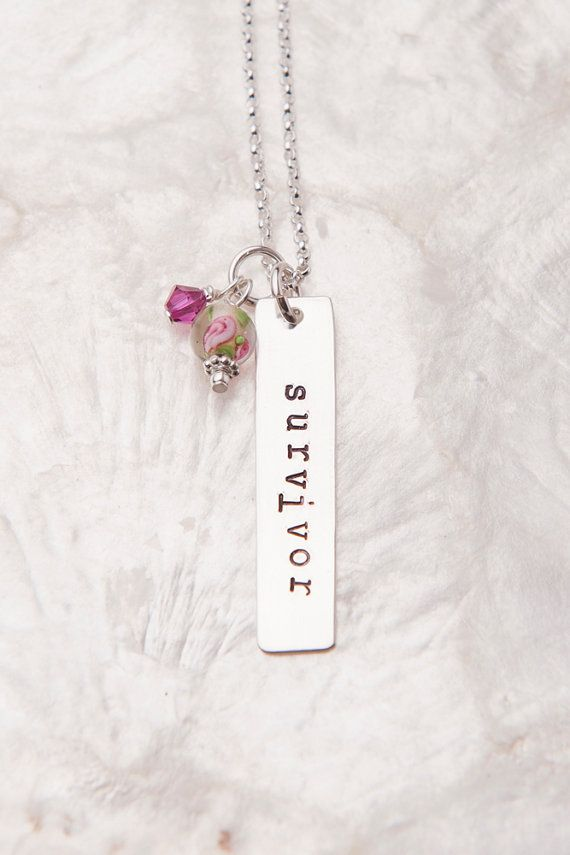 Survivor Necklace Breast Cancer Jewelry Breast Cancer by therhouse, $30.00