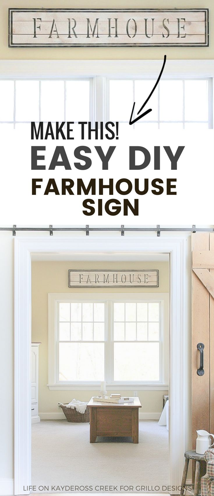 How to make a DIY farmhouse sign that adds character to your home using simple craft paint and stencils. Create unique farmhouse décor for your home.