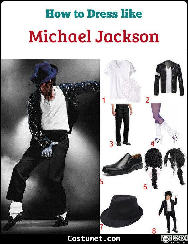 Michael Jackson Annual Halloween Cartoon 2020 Billie Jean (Michael Jackson) Costume for Cosplay & Halloween 2020