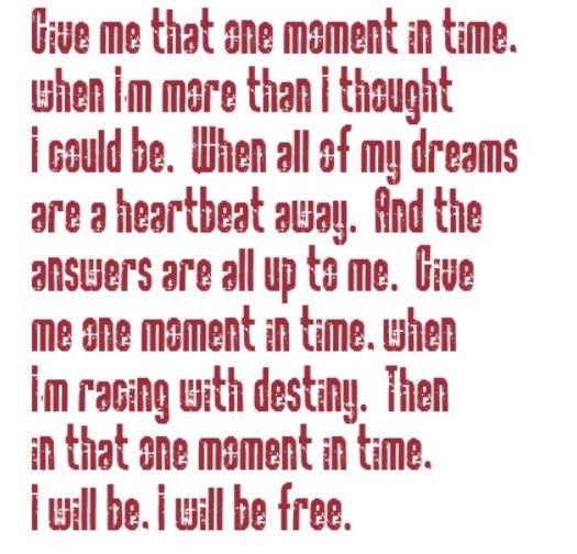 Whitney Houston - One Moment In Time - song lyrics, song quotes, songs, music lyrics, music quotes