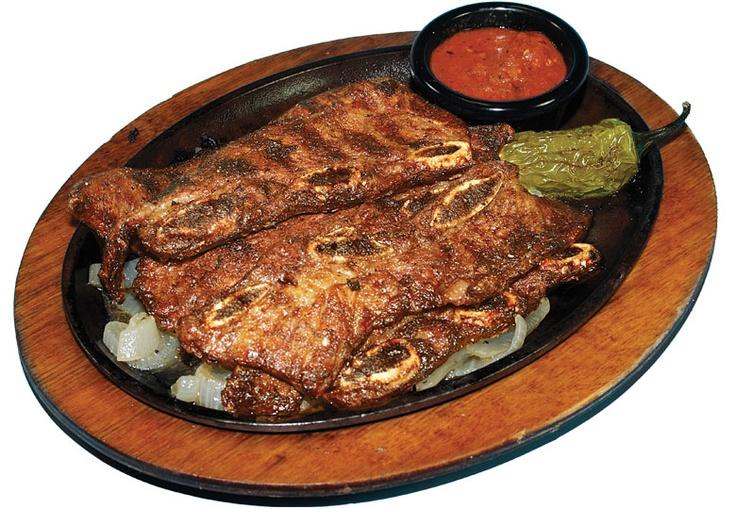 Tablitas -Costillas de res asadas. Grilled beef short ribs