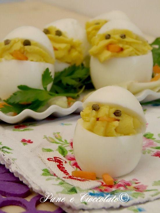 Antipasto di Pasqua Uova Pulcino