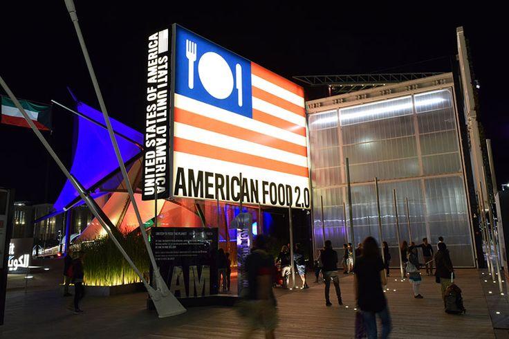United States Pavilion by night at Expo Milan 2015 #raiexpo #expo2015 #italy #milan #worldsfair #usa #unitedstates #architecture