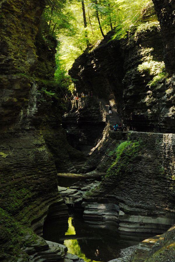 Waterfalls & Gorge at Watkins Glen by Lafayette Wattles, via Behance