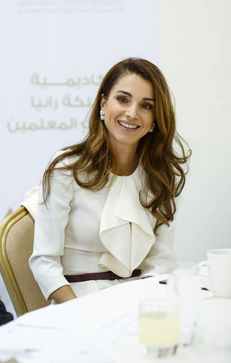 November 10, 2014 ♔♛Queen Rania of Jordan♔♛...