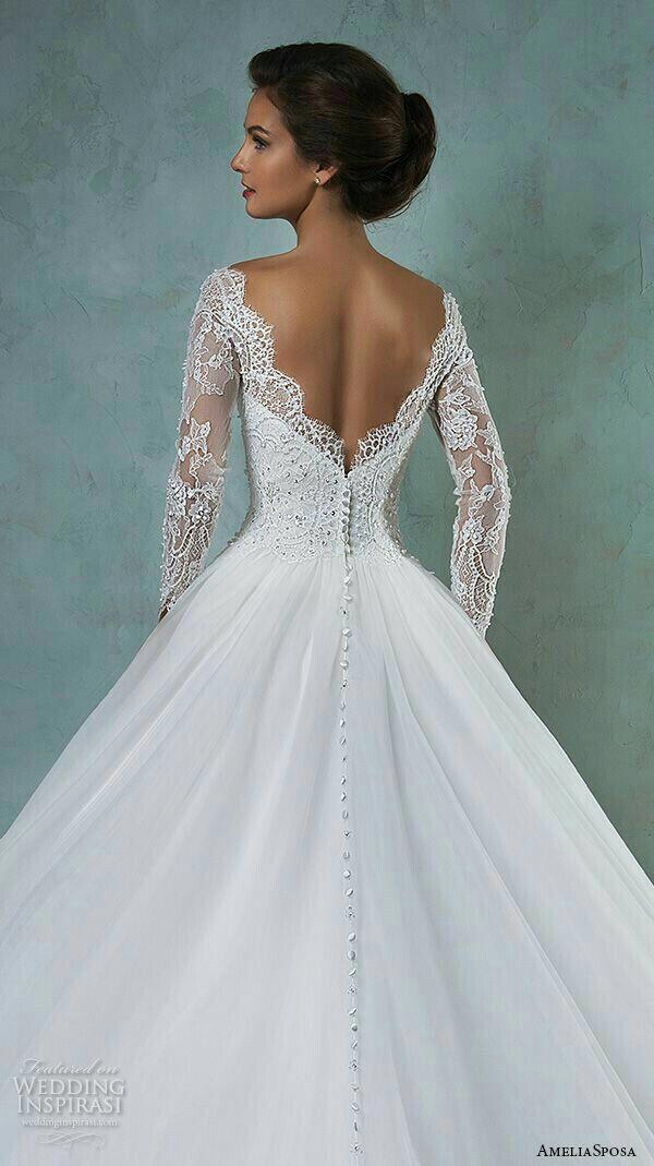 Langarm Hochzeitskleid