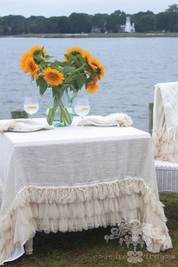 Couture Dreams Chichi Tablecloths Are Truly One Of A Kind. A Mixture Of  Different Textures And Materials Make Up This Unique Table Covering ...