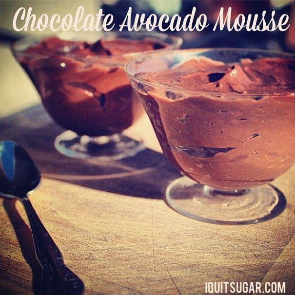 Chocolate Avocado Mousse  Iquitsugar.com/recipe/