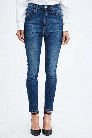 Light Before Dark - Jean skinny indigo taille haute - Urban Outfitters