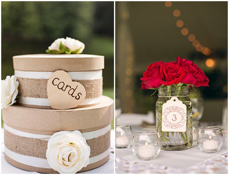 White And Red Country Wedding - Rustic Wedding Chic