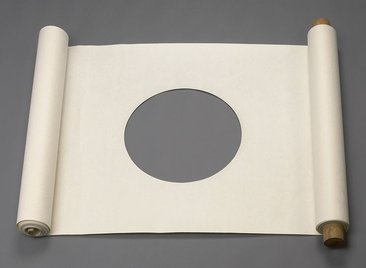 James Lee Byars. Untitled (Performable Scroll), ca. 1967. Paper, wood. Courtesy Michael Werner Gallery, New York and London.