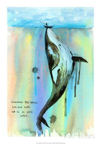 Whale-a-la Posters por Lora Zombie na AllPosters.com.br