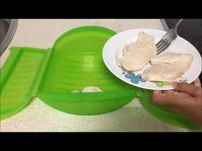 Filetes de pollo con salsa de queso en estuche de vapor Lekue - YouTube