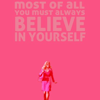 Legally Blonde has been such an influence in my life. Elle Woods learned that she could be more than just an MRS degree. She found her potential and the love of her life! After coming to college, I have realized I can get more than my MRS. I have a lot of potential