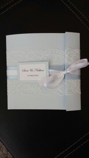 Blue linen paper -gorgeous texture, together with lace and ribbon