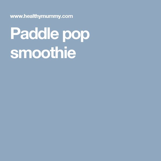 Paddle pop smoothie 250cal