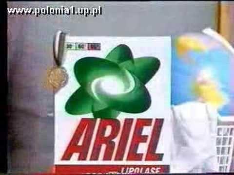 """Stare polskie reklamy:    - papierosy """"Camel""""  - proszek do prania """"Ariel""""  - guma """"Boomer""""  - przewozy kurierskie """"TNT""""   - chrupki """"Star Foods""""  - szampon """"Pantene"""""""