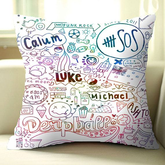 5Second of Summer Collage Good Print Pillow Cover by MeylaniPutri, $17.59