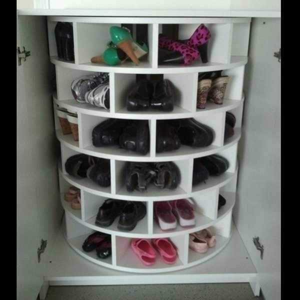 Вращающаяся обувница - новинки в системах хранения