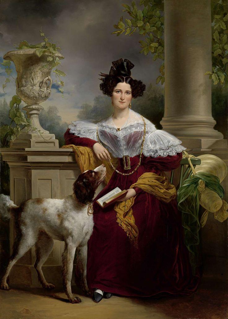 Portret van Alida Christina Assink met boek, Jan Adam Kruseman, 1833.