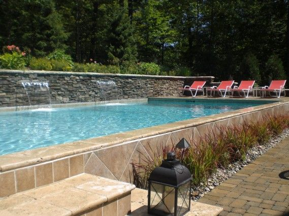 1000 ideas about raised pools on pinterest plunge pool for Raised pool designs