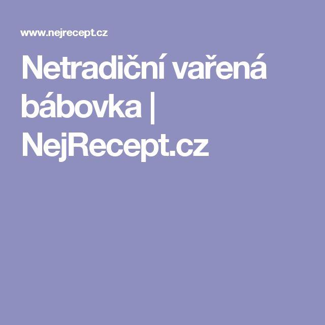 Netradiční vařená bábovka   NejRecept.cz