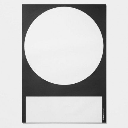 A cool  new monochrome poster from Playtype.	Size:     50 x 70 cm	Design: Playtype Copenhagen	Delivered unframed in a paper tube	Please shop for your lovely poster frames here