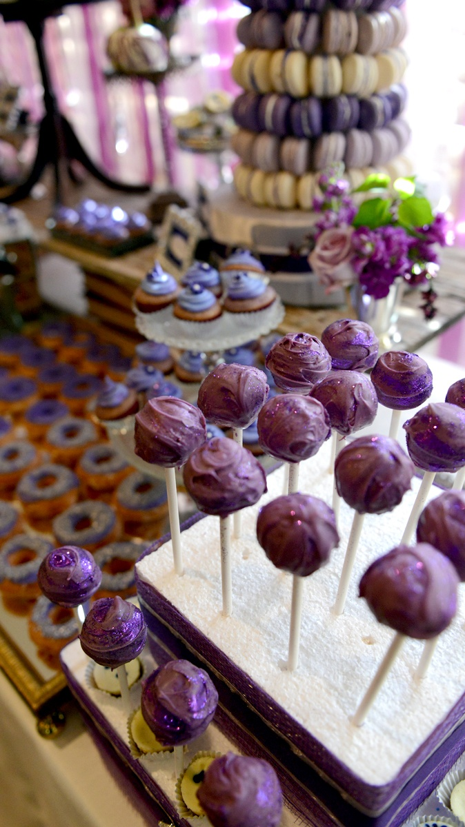 Purple dessert table done by Le Petite Chef on facebook