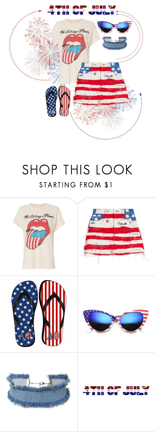 """Celebrate America #2"" by oliveraelisa ❤ liked on Polyvore featuring MadeWorn, Marc Jacobs, ZeroUV and DANNIJO"