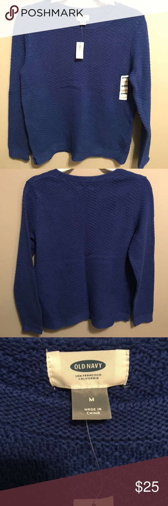 Old Navy sweater Thick knit royal blue sweater. Never worn with tags still on the price is ripped off because it was given as a gift Old Navy Sweaters Crew & Scoop Necks