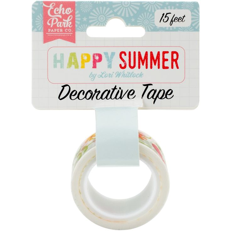 Echo Park Paper Happy Summer Decorative Tape-Ivy Floral - ivy floral