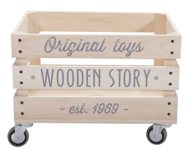 Wooden Storage Crate On Wheels