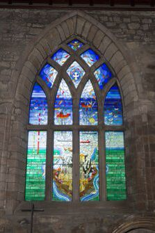 June 2015- The Piper Alpha memorial stained glass window in the St Nicholas Church.
