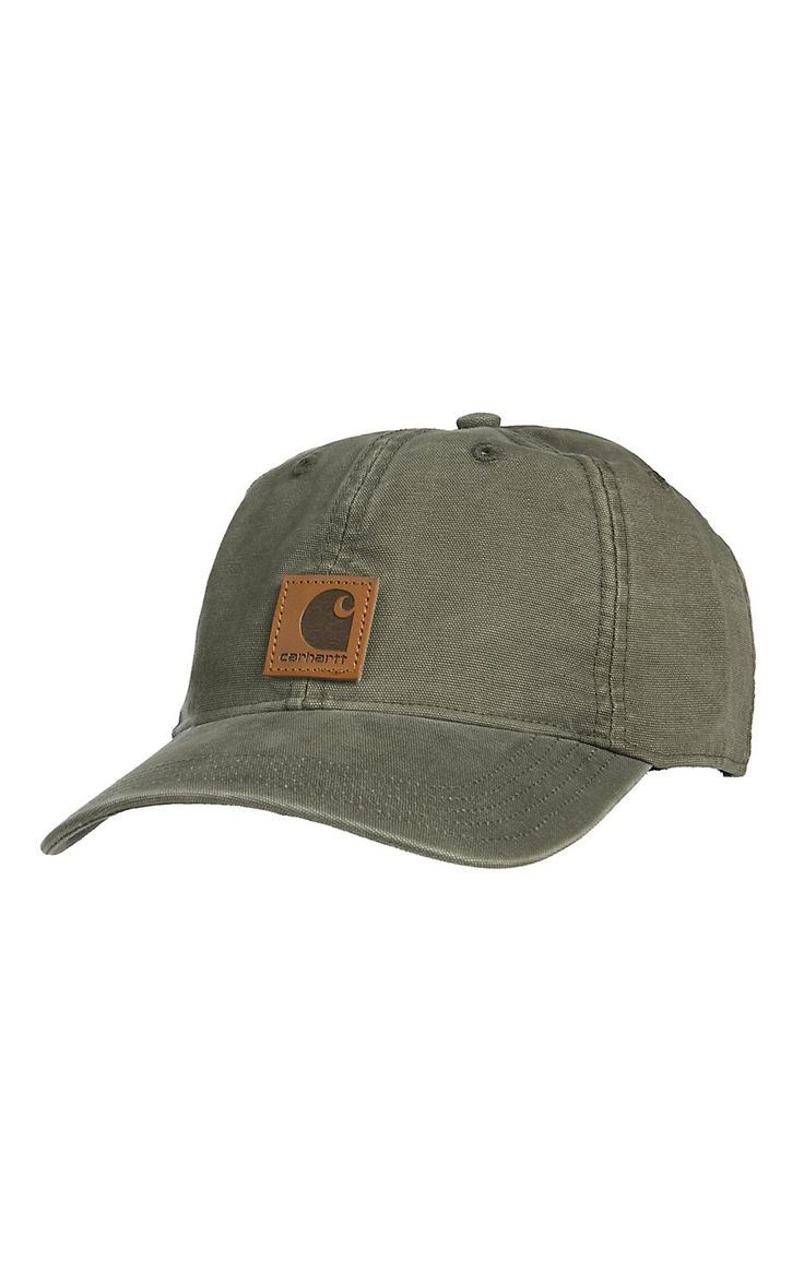Carhartt Men's Army Green Washed Canvas Odessa Cap
