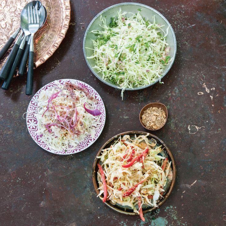 Coleslaw met mosterdvinaigrette, lekker bij pulled pork en bij pulled chicken met oregano en sinaasappel