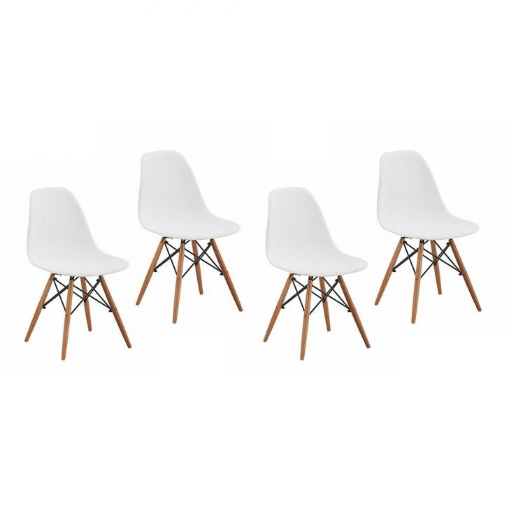 Conjunto 4 Cadeiras de Jantar Eames ABS Branca Quer mais modernidade e aconchego para a sua casa? Aposte no design da criação do casal Eames! De: 1499,99 - Por: 665,99 - até 10x de 66,60 sem juros no cartão de crédito. Clique na imagem e aproveite!