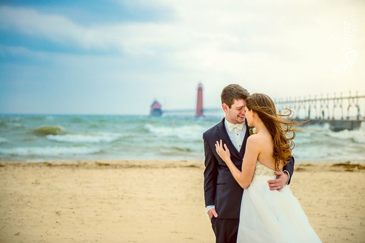 Beach Wedding Photography At The Grand Haven Pier By Silvine Pinterest Beaches And