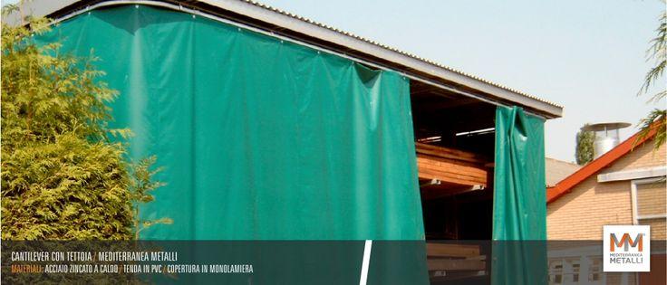 Realizziamo cantilever, di qualsiasi forma e dimensione, in acciaio zincato con possibilita' di tettoia e chiusura a scorrimento in pvc. Contattaci per un preventivo gratuito!