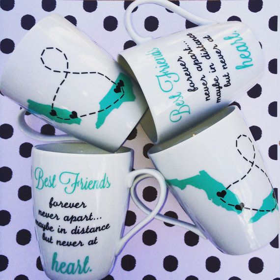 Long Distance Friendship Mug by WhiteHotDesign on Etsy